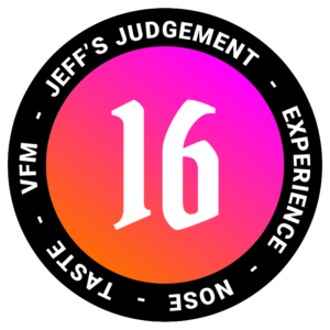 16 out of 24 - Jeff Whisky Rating